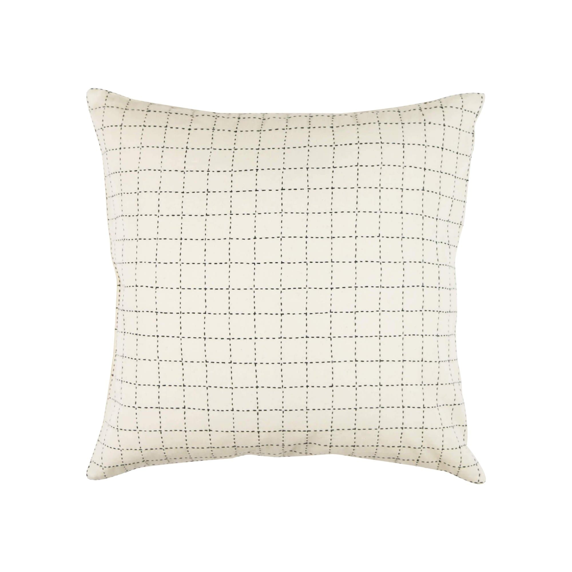 Anchal Project Cushions + Throws Mini Grid-Stitch Throw Pillow