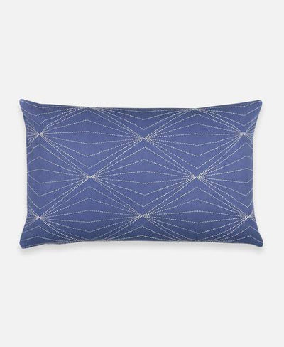 Anchal Project Cushions + Throws Slate Prism Lumbar Pillow
