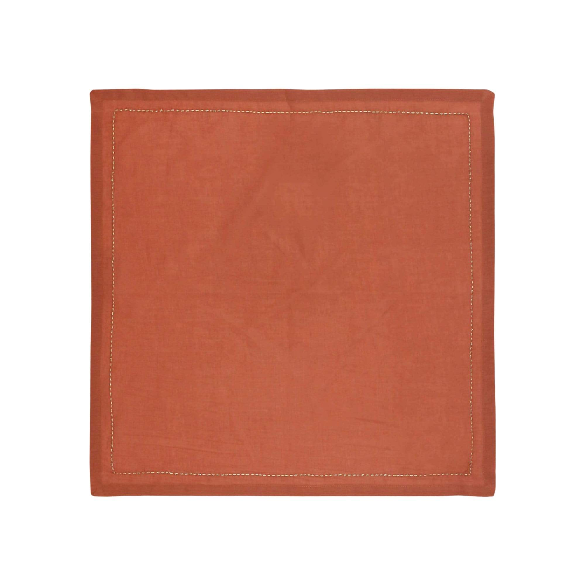 Anchal Project Table Linens Rust Pin-Stitch Napkin Set