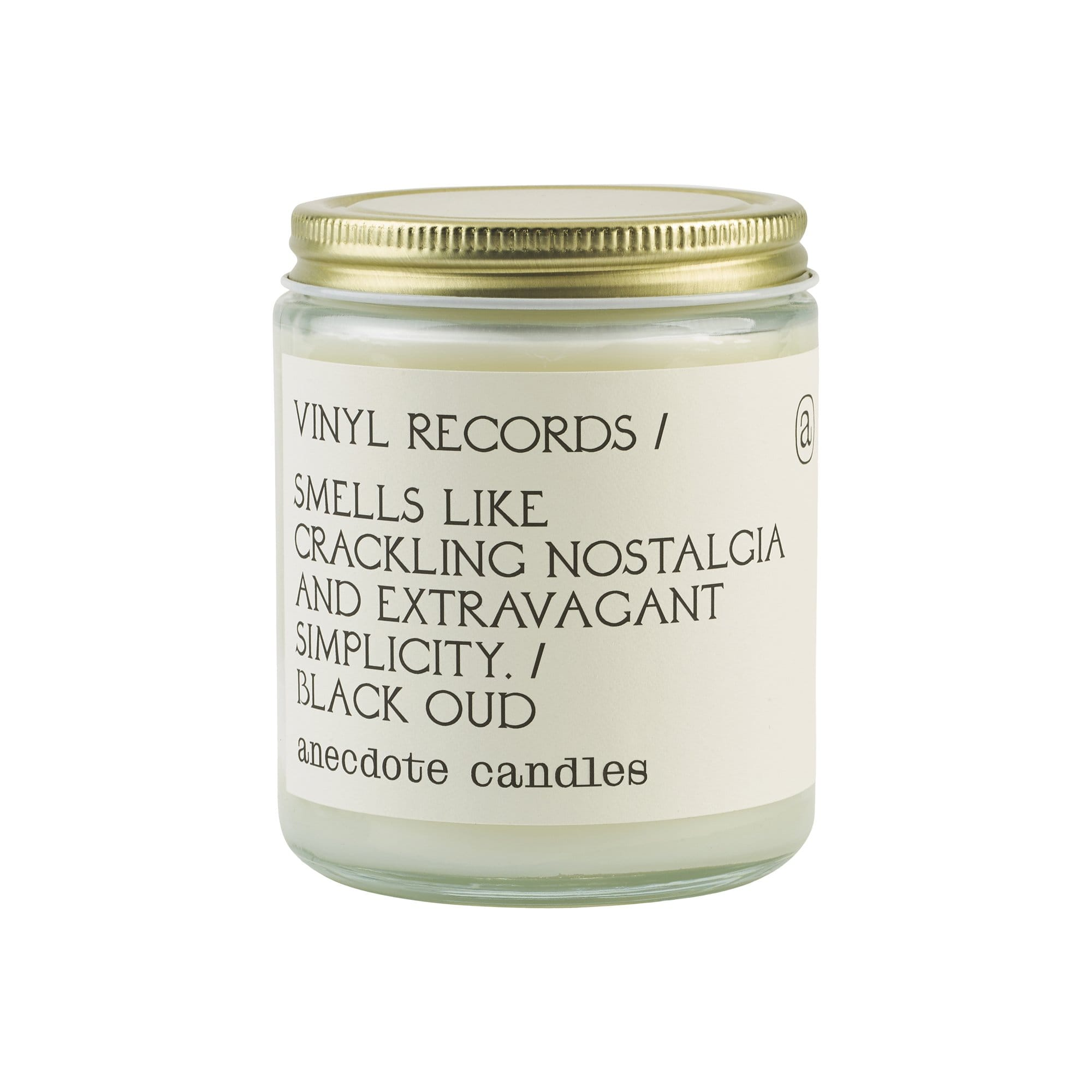 Anecdote Candles Candles, Diffusers + Incense Standard Jar Vinyl Records Black Oud Candle