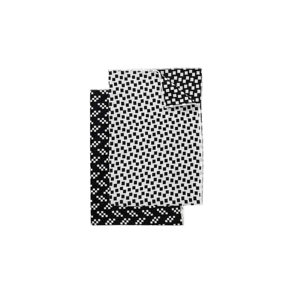 Bitmap Tea Towel Black/White Set