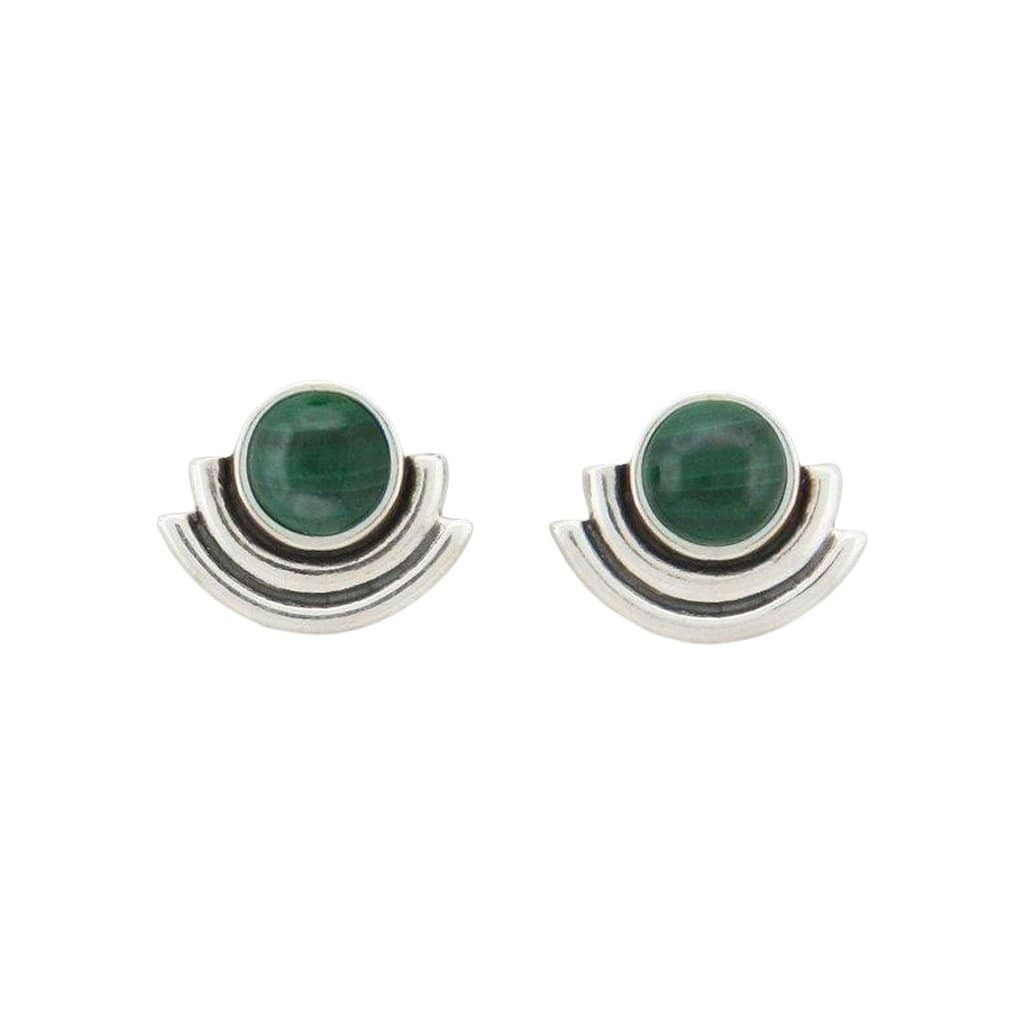ARTIFACTS Earrings Malachite Arc Stone Stud Earrings