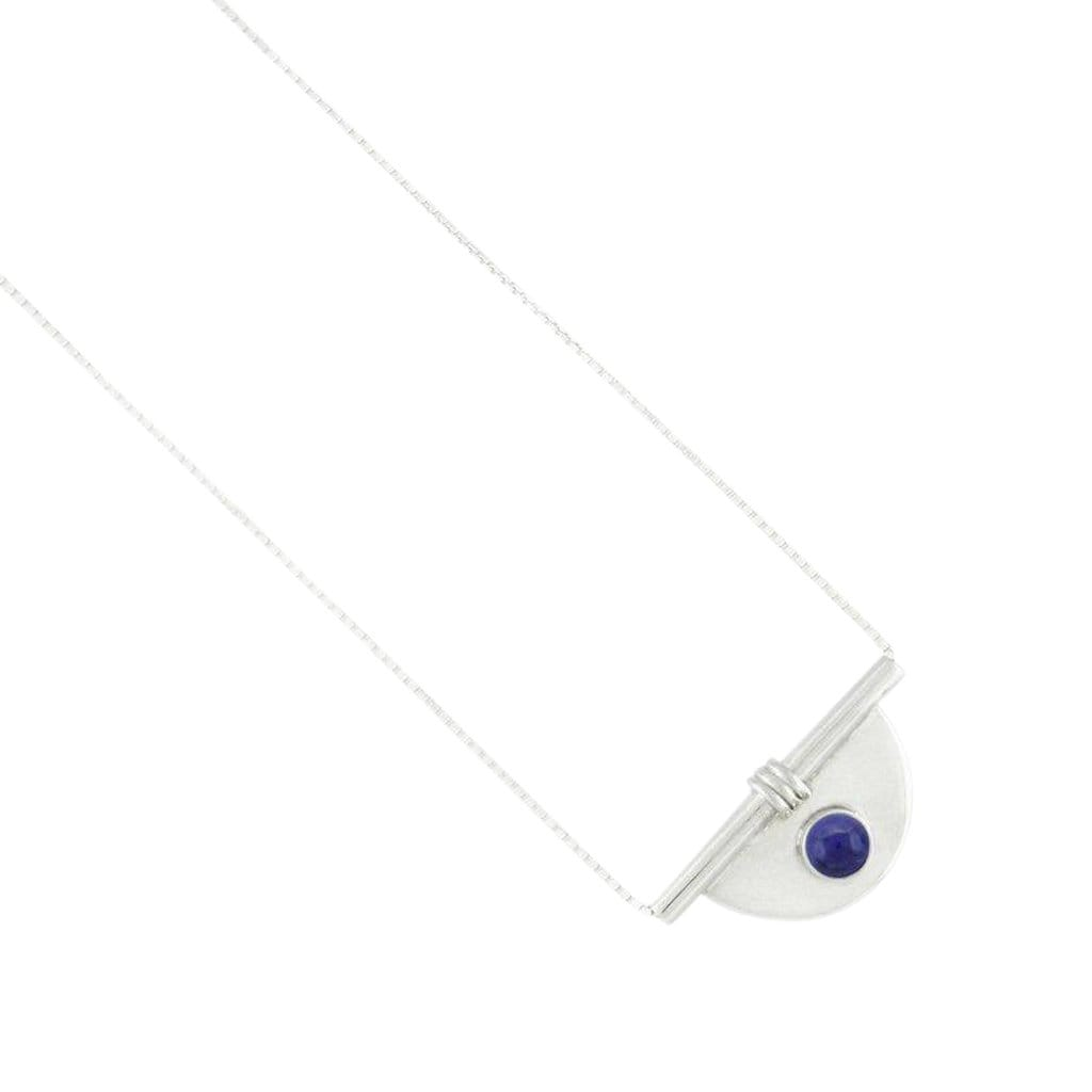 Arc Sterling Silver Stone Necklace