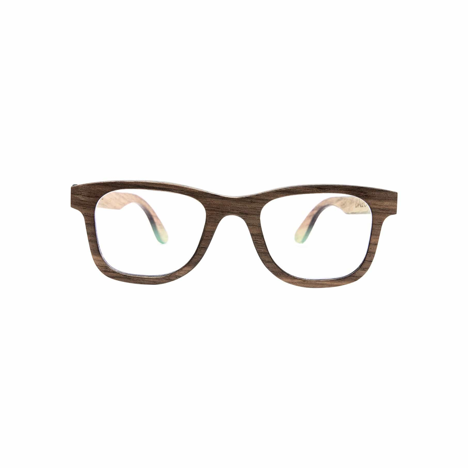 Ballo Sunglasses + Eyewear Barnes with Walnut + Clear Lenses