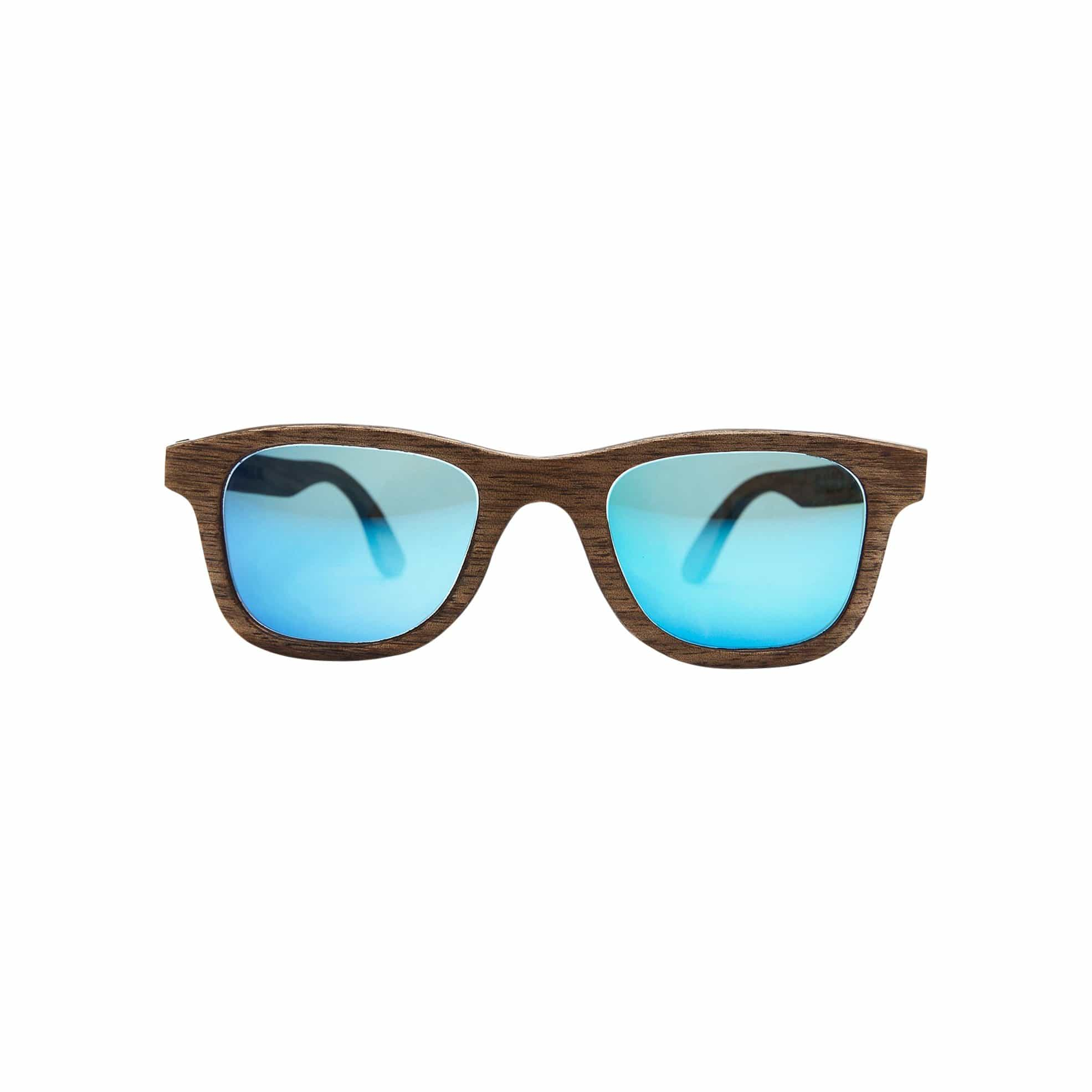 Ballo Sunglasses + Eyewear BarnesXL with Walnut + Revo Mirror Lenses