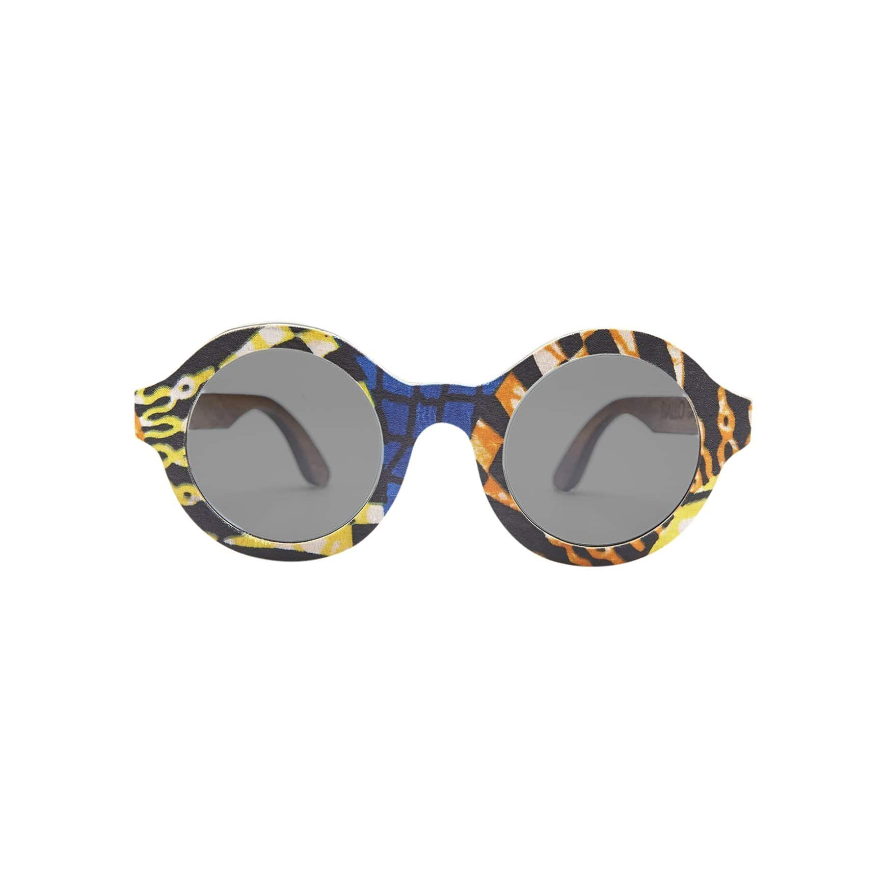 Ballo Sunglasses + Eyewear Olive with African Fabric 4