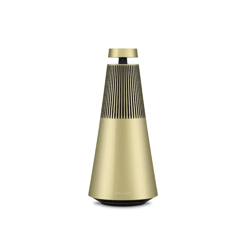 Brass-Tone Beosound 2 Wireless Multiroom Speaker with Voice Assist