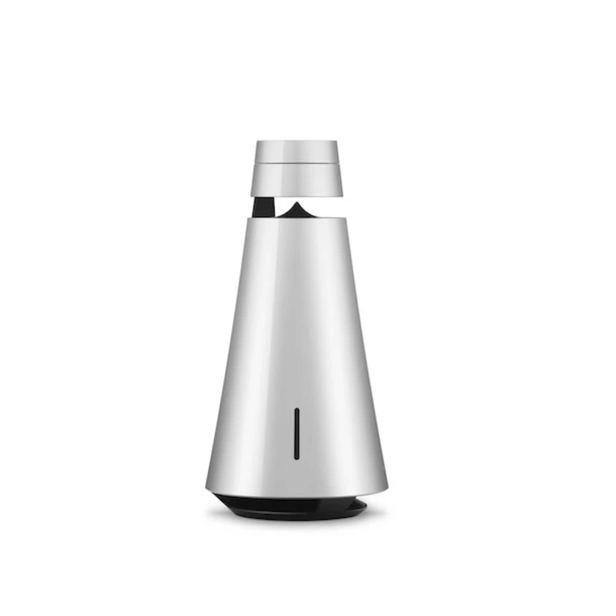 Natural Aluminum Beosound 1 Wireless Multiroom Speaker with Battery and Voice Assist