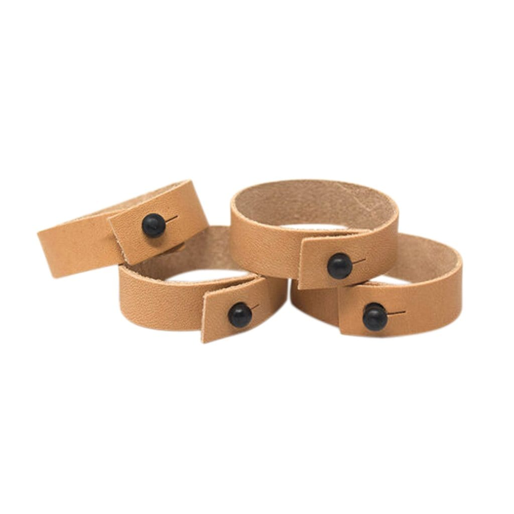 BASIT Table Linens Black Veg Tan Napkin Rings