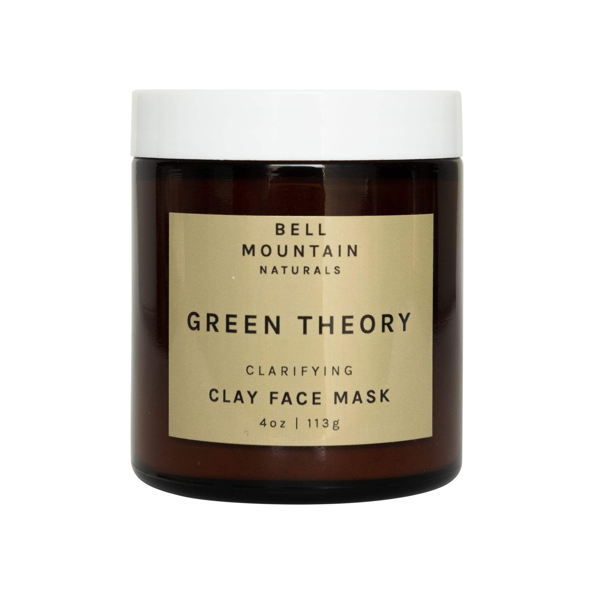 Bell Mountain Naturals Face 4 ounce jar Green Theory Clay Face Mask