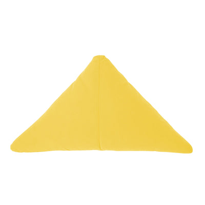 Bend Goods Cushions + Throws Yellow Triangle Throw Pillow