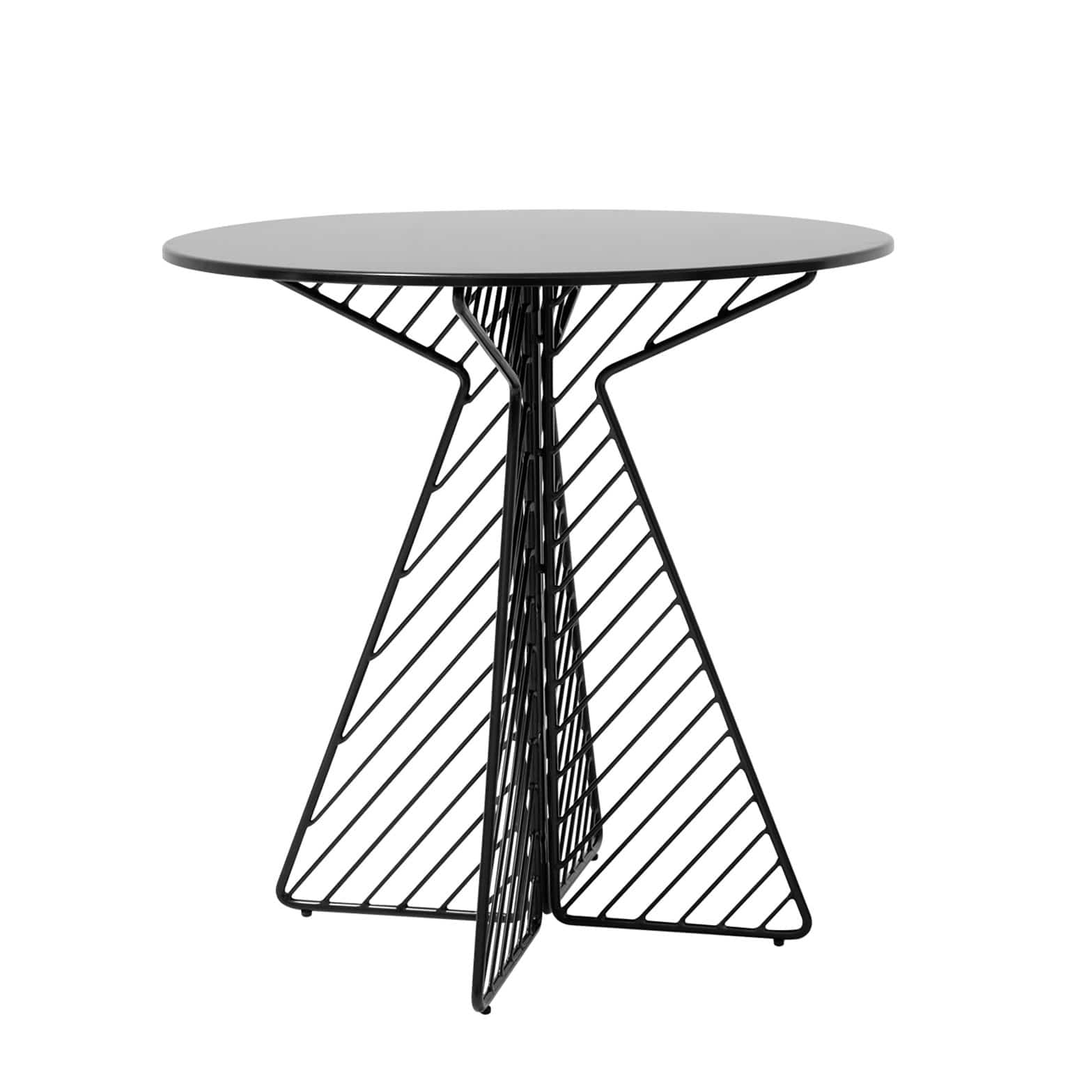 Bend Goods Furniture Black + Round Cafe Dining Table