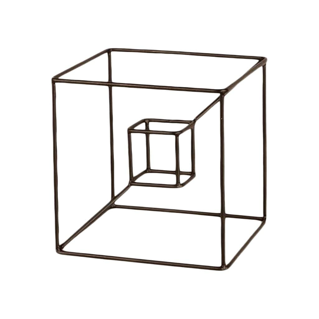 Bendo Decorative Objects Cube In Cube Geometric Sculpture