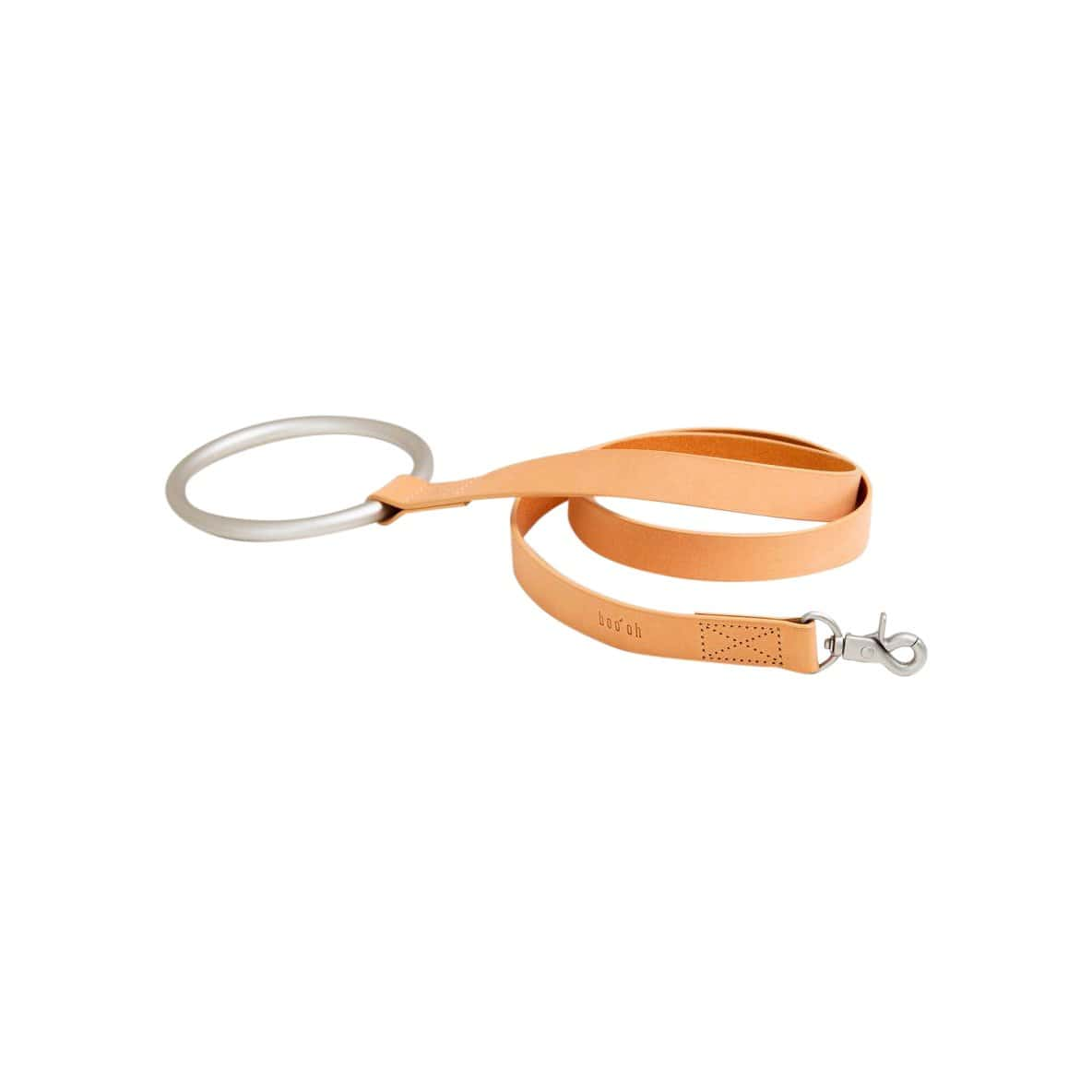 Boo Oh Leashes + Leads Tan Lumi Silver and Tan Leather Leash