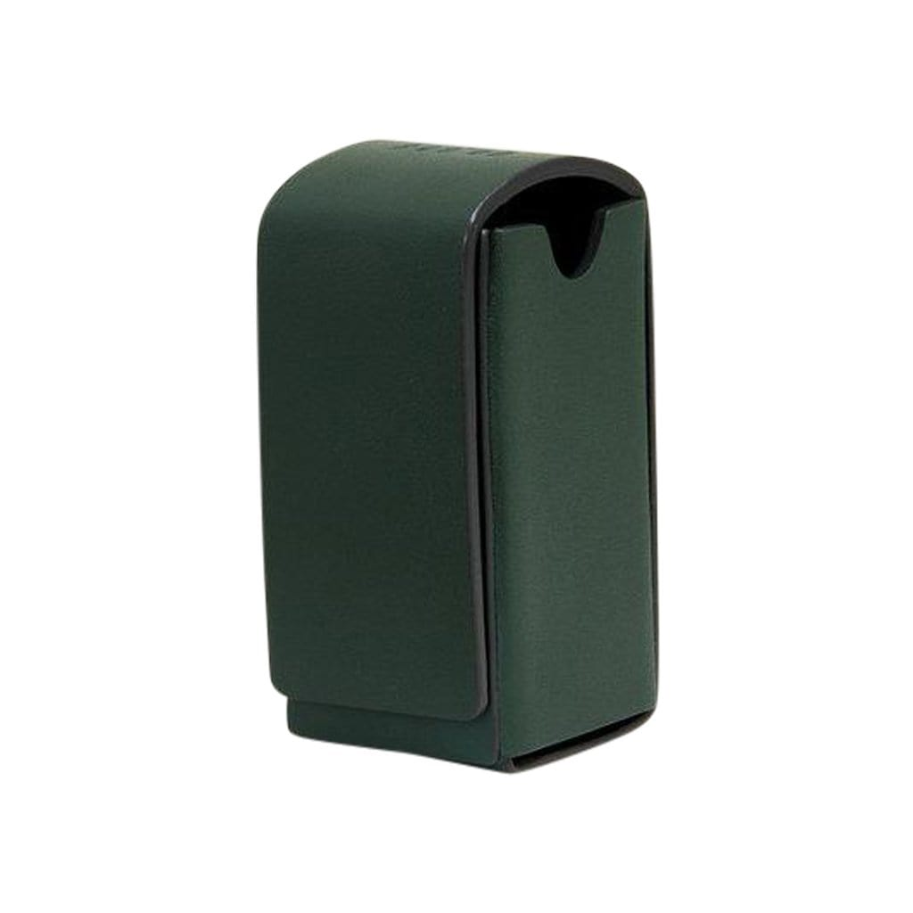 Toto Green Leather Waste Bag Holder