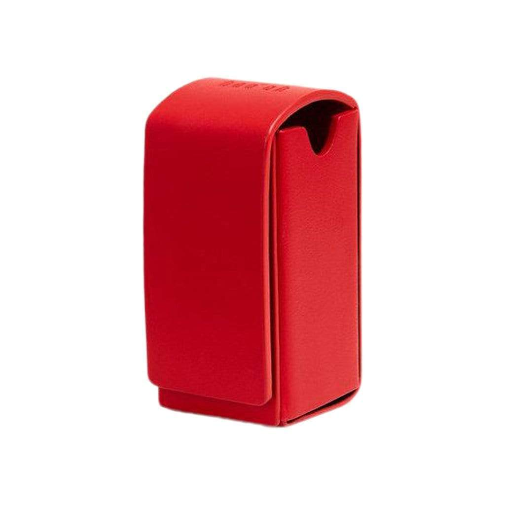 Toto Red Leather Waste Bag Holder