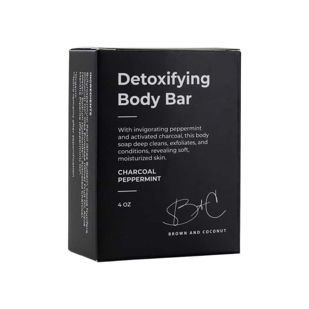 Brown and Coconut Body Detoxifying Body Bar