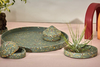 Capra Designs Decorative Objects Terrazzo Dome Keepsake Box