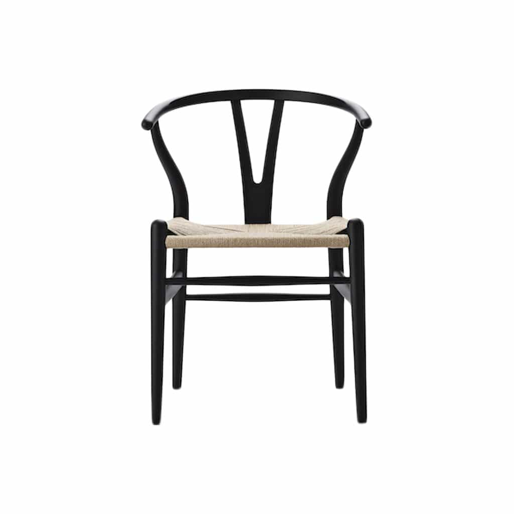 CH24 Wishbone Soft Black Chair