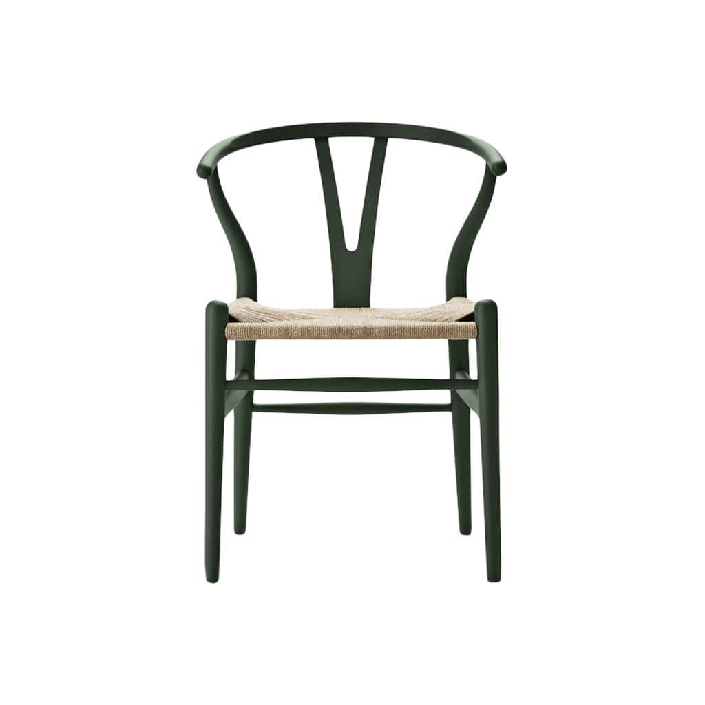 CH24 Wishbone Soft Green Chair