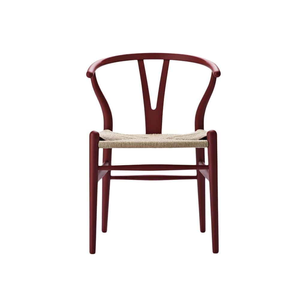 Carl Hansen & Son Furniture CH24 Wishbone Soft Red Chair