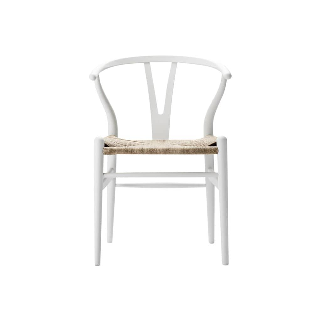 CH24 Wishbone Soft White Chair