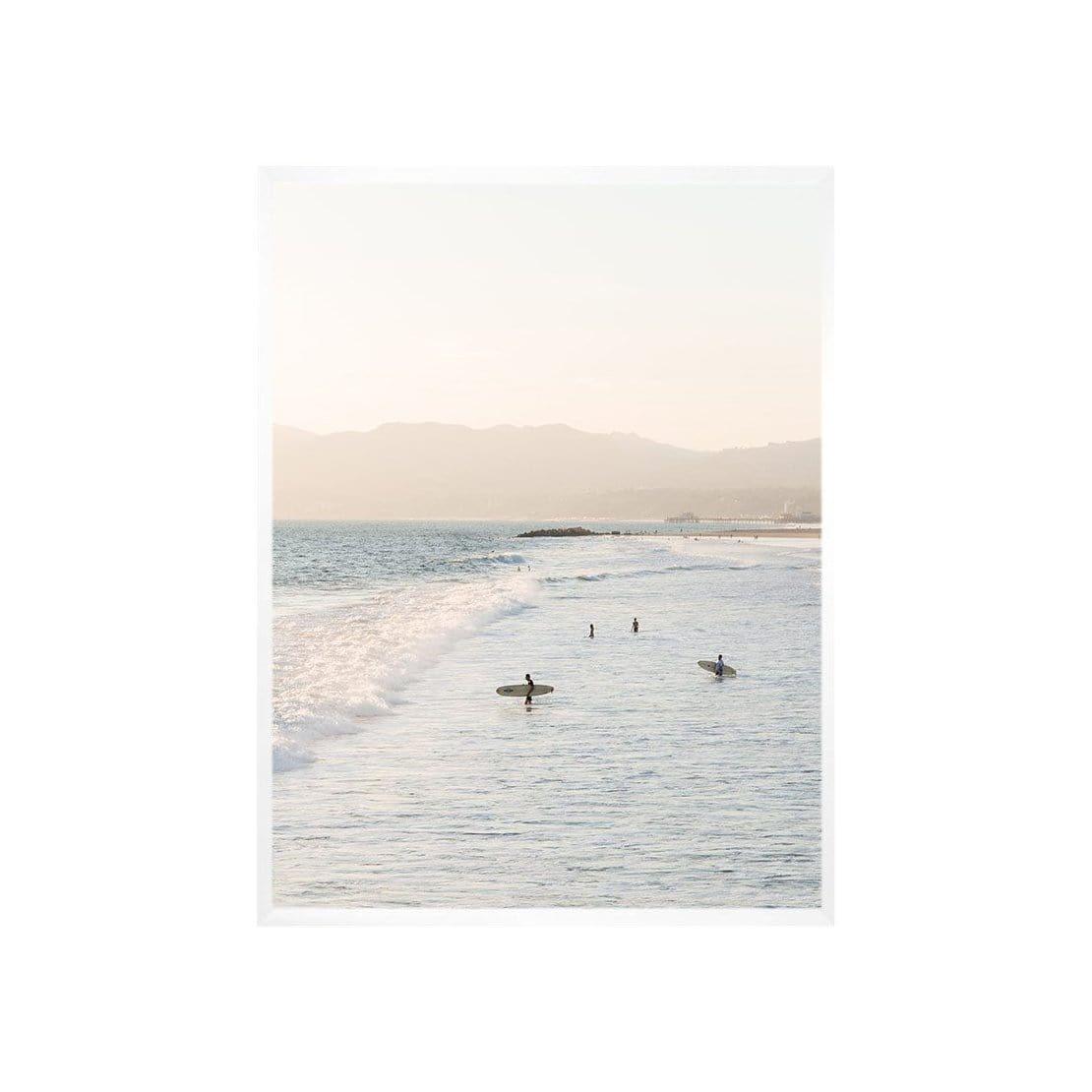 Venice Beach Sunset Surf Print