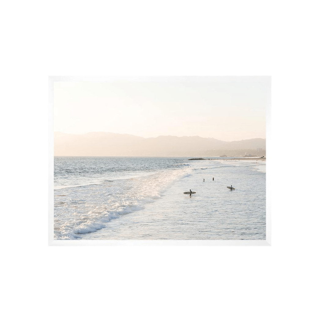 Carley Rudd Photography + Prints Venice Beach Sunset Surf Horizontal Print