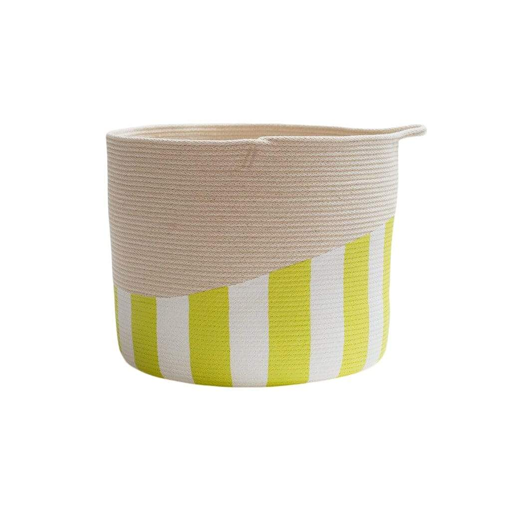 Closed Mondays Chartreuse Stripe Striped XL Bucket