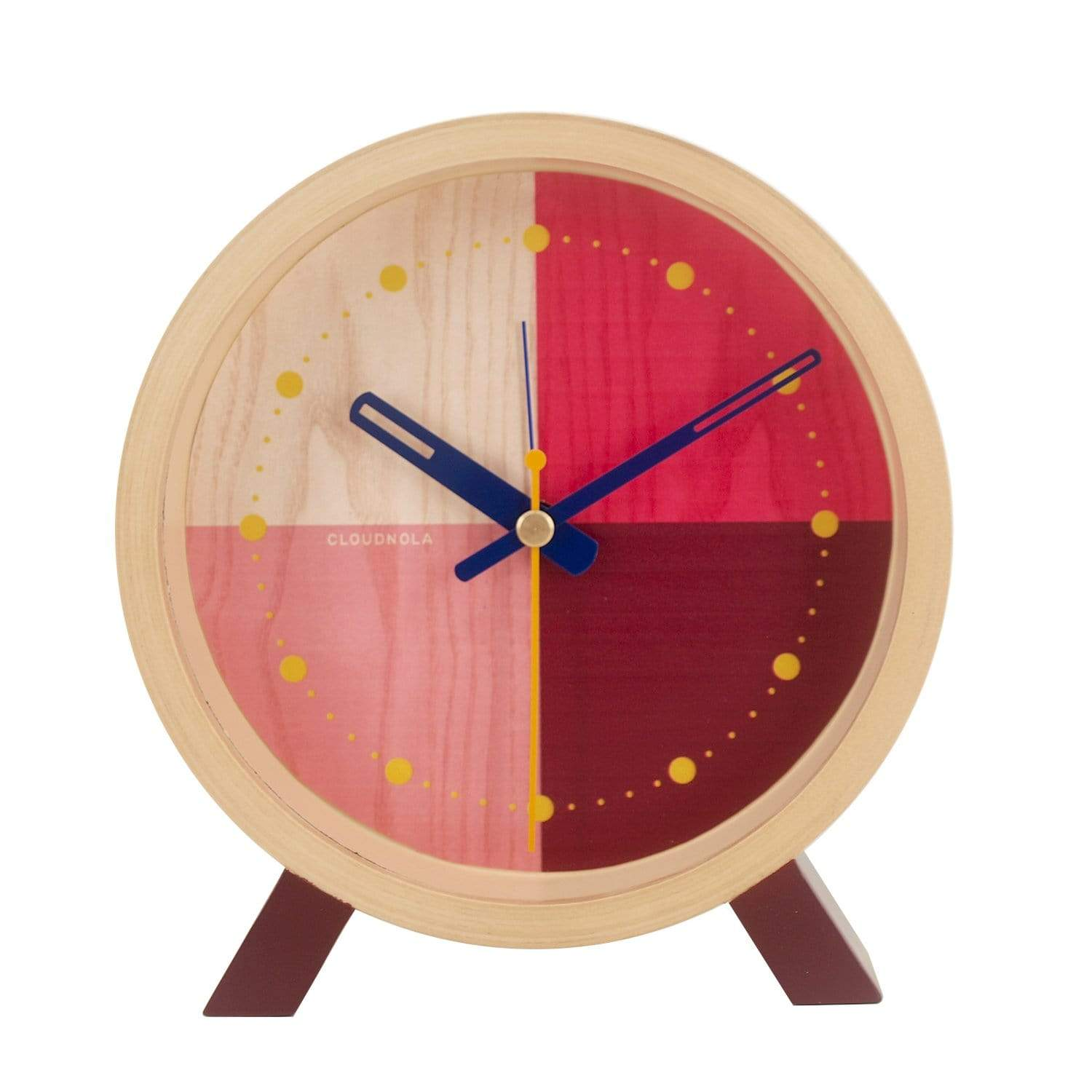 cloudnola Desk Clock Flor Red Desk Clock