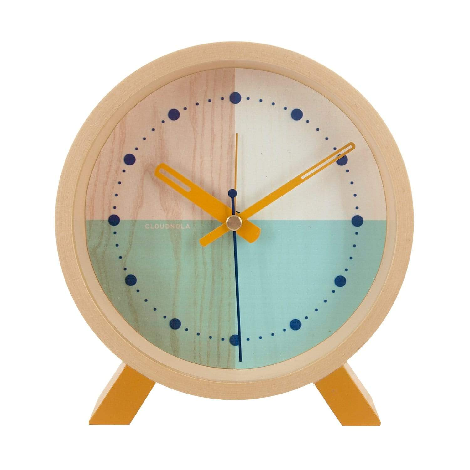 cloudnola Desk Clock Flor Turquoise Desk Clock