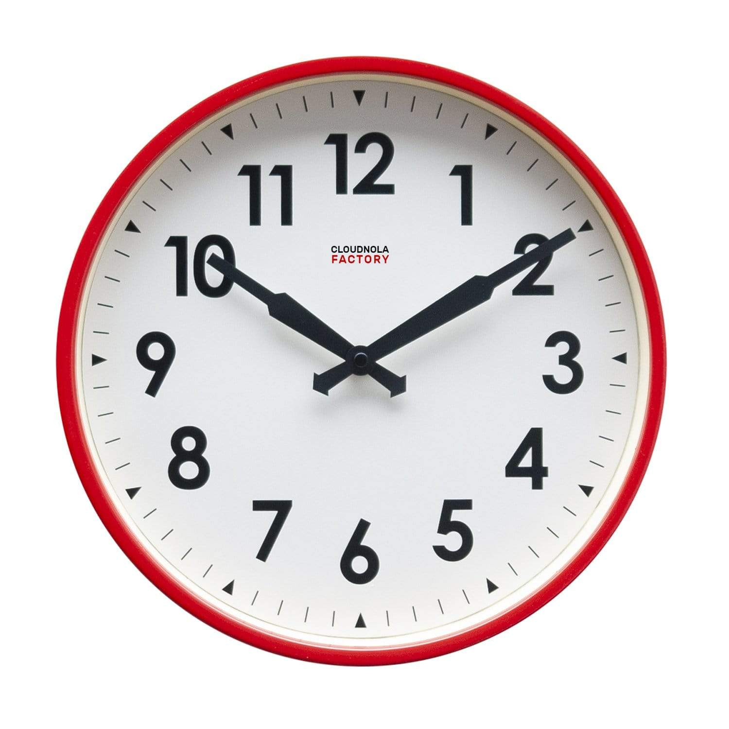 cloudnola Wall Clock Factory Red Numbers Clock 30cm / 11.81 inches