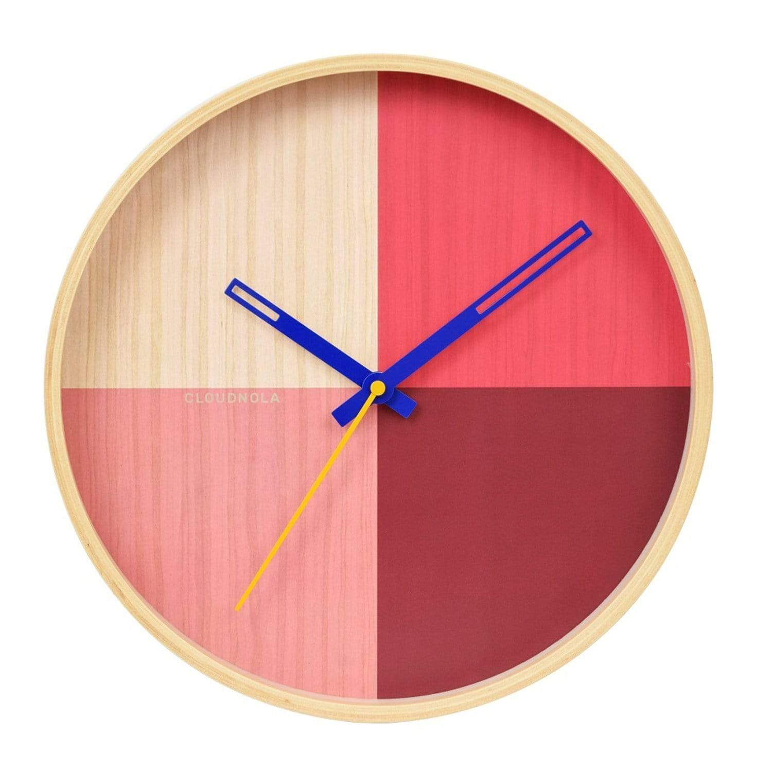 cloudnola Wall Clock Flor Red Wall Clock