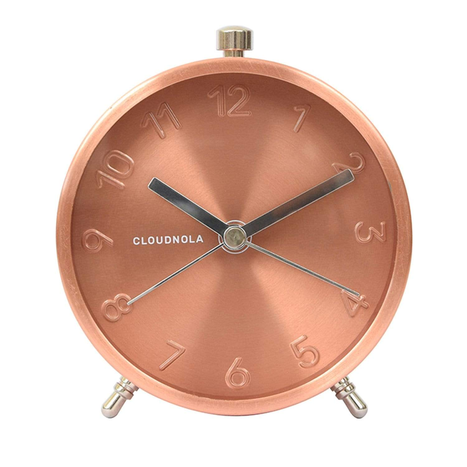 cloudnola Wall Clock Glam Copper Alarm Clock
