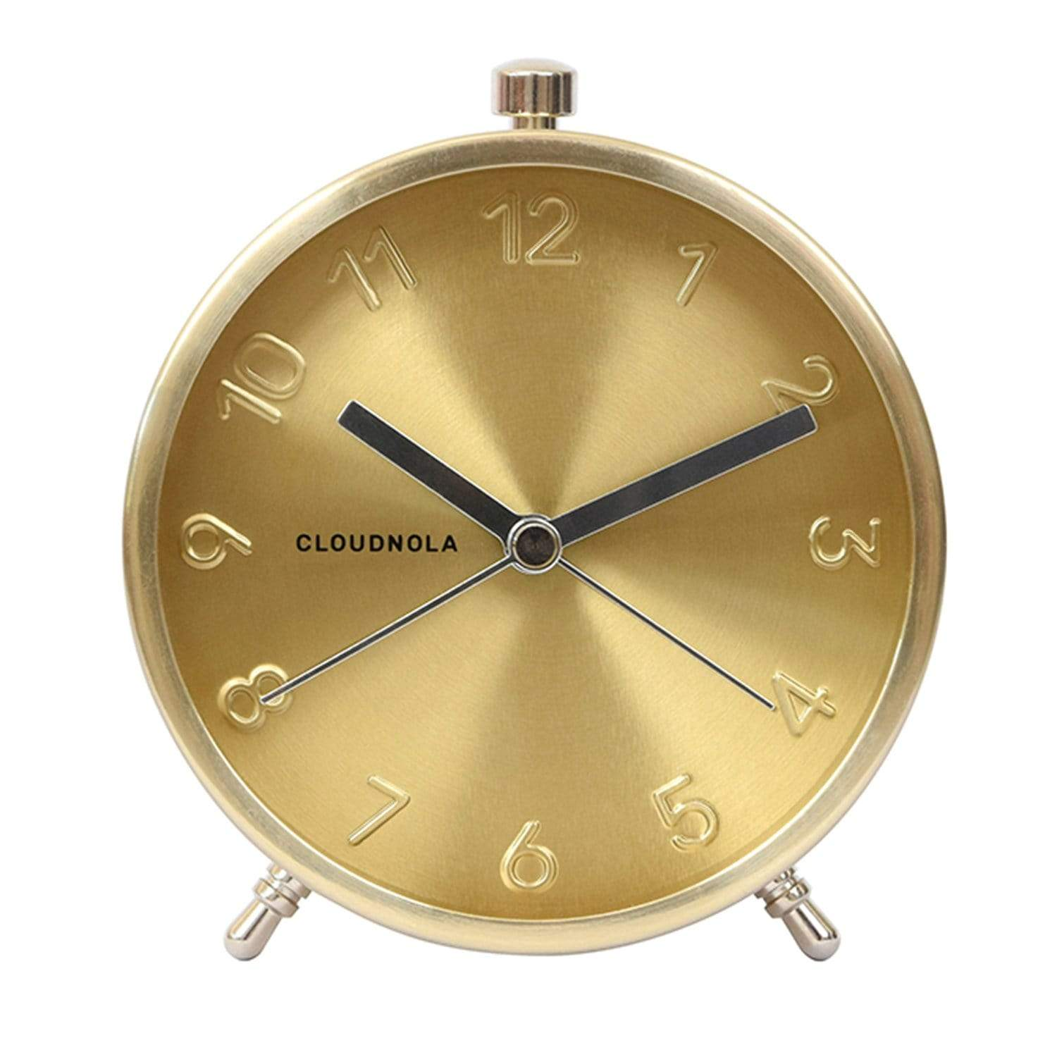 cloudnola Wall Clock Glam Gold Alarm Clock