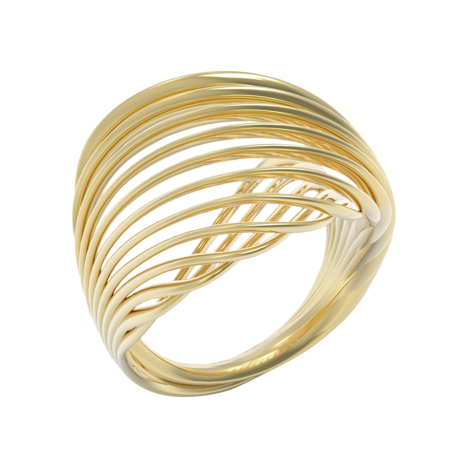 DDNKA Studio Rings Gold Plated / 4.5 Ponche Ring
