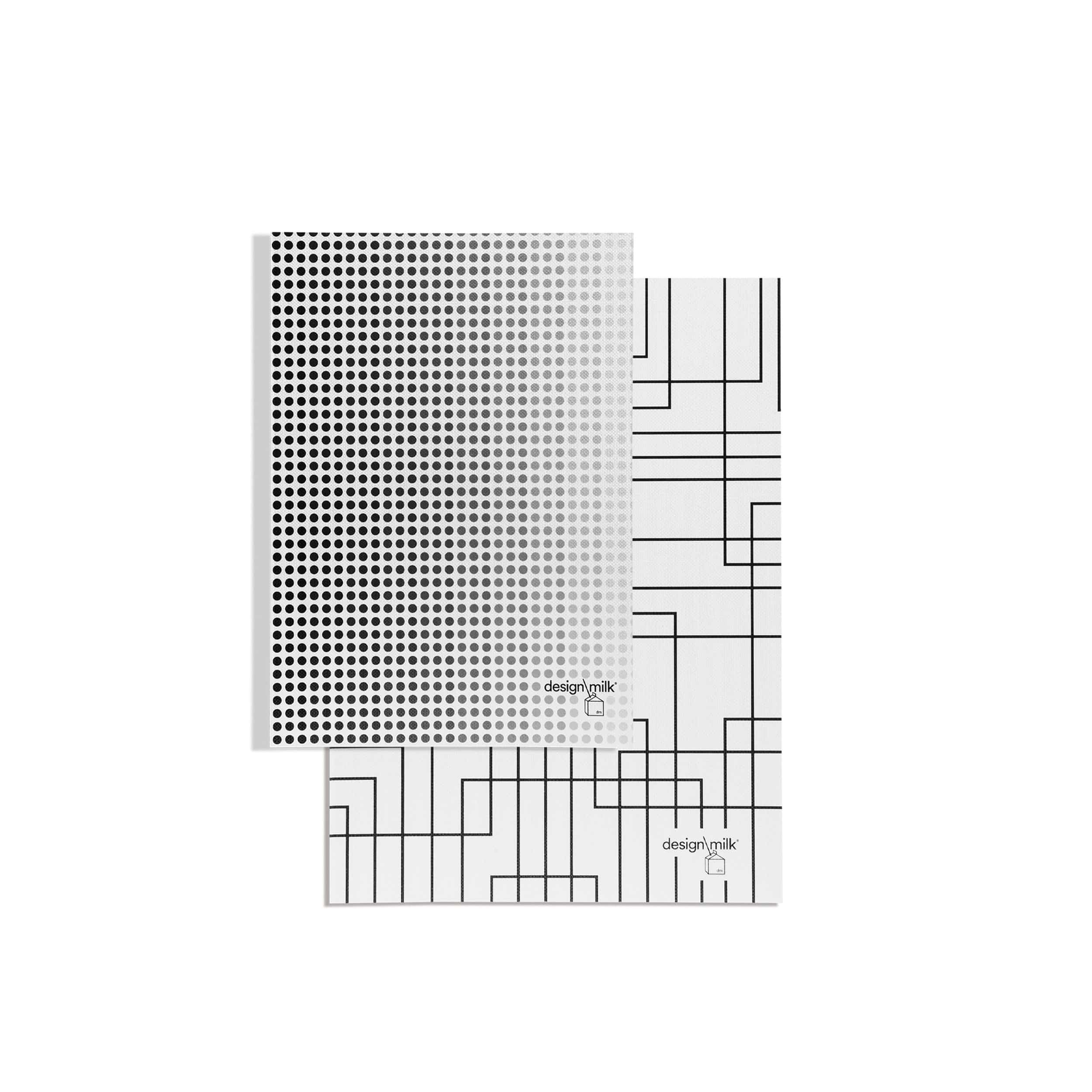 White Lines Notebook + Gradient Dot Concept Planner