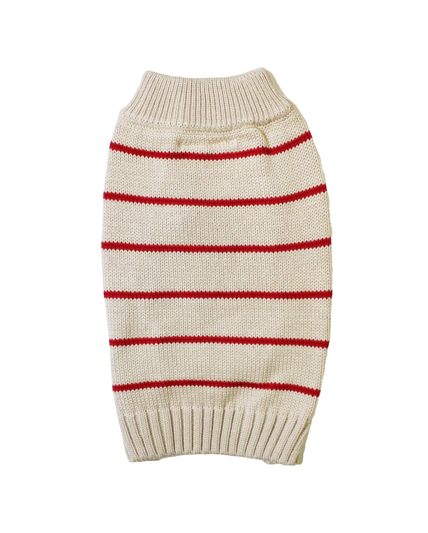 Dog Threads Sweaters, Shirts + Hoodies Poppy Stripe Dog Sweater