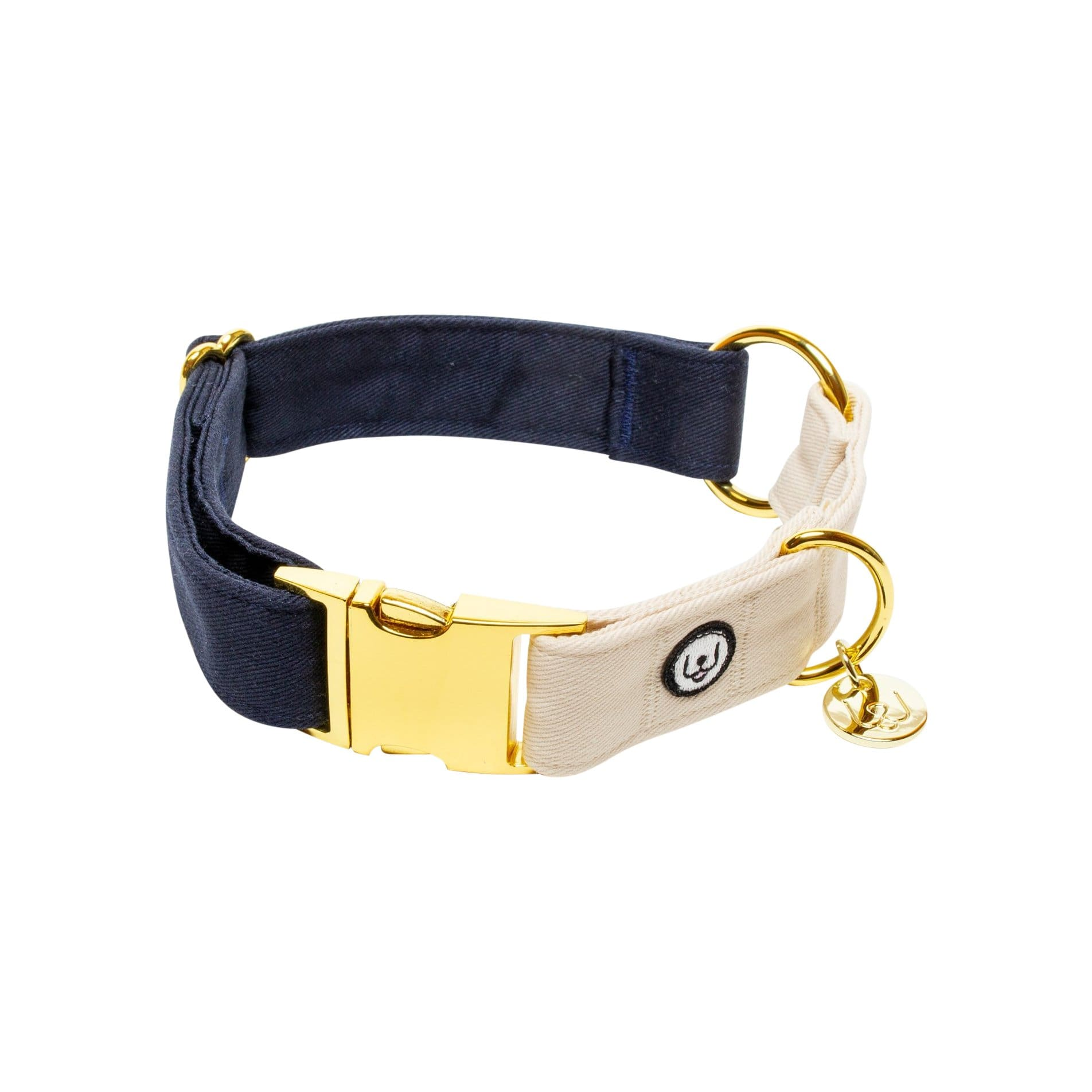 Eat Play Wag Collars + Harnesses Navy-Ivory Collar