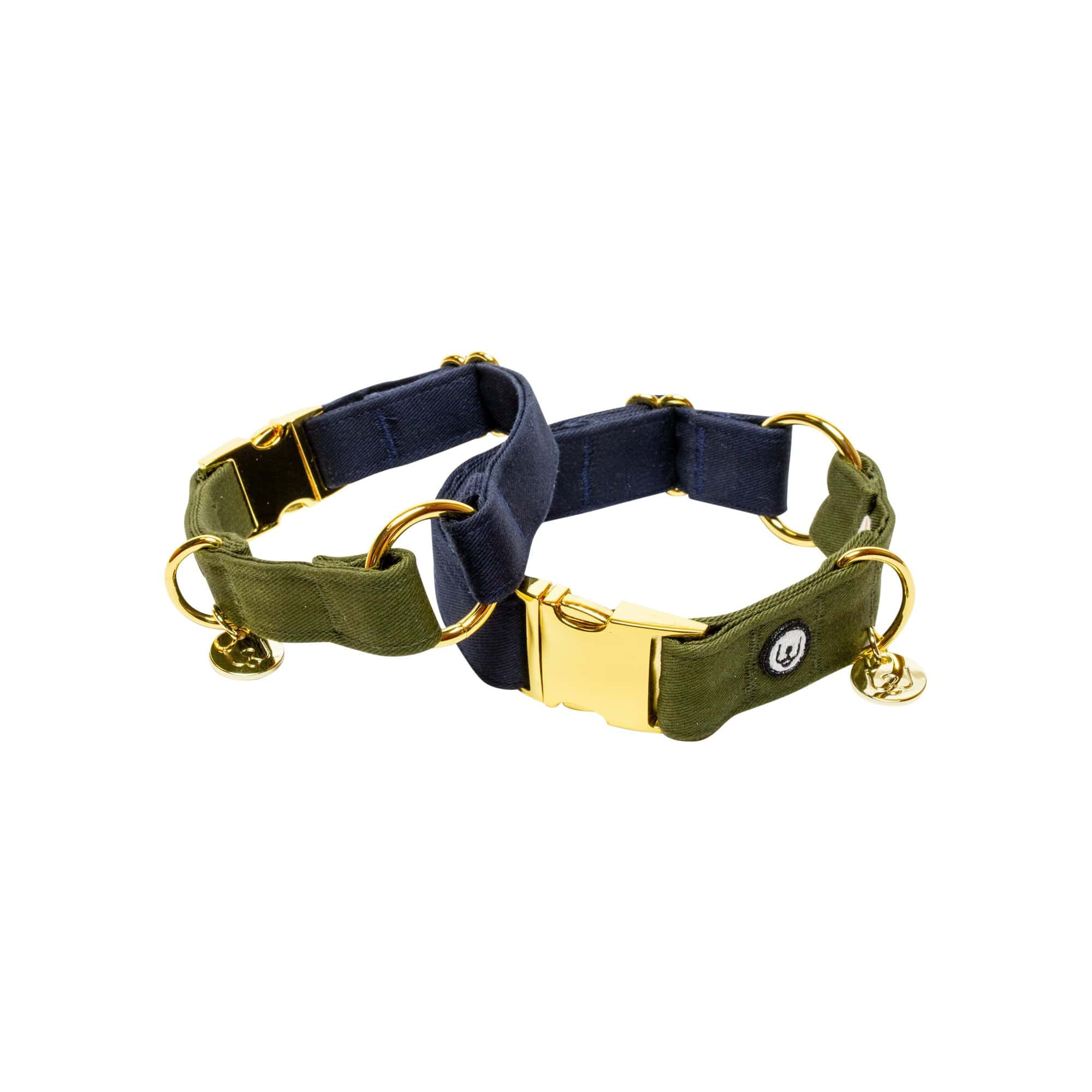 Eat Play Wag Collars + Harnesses Navy-Olive Collar