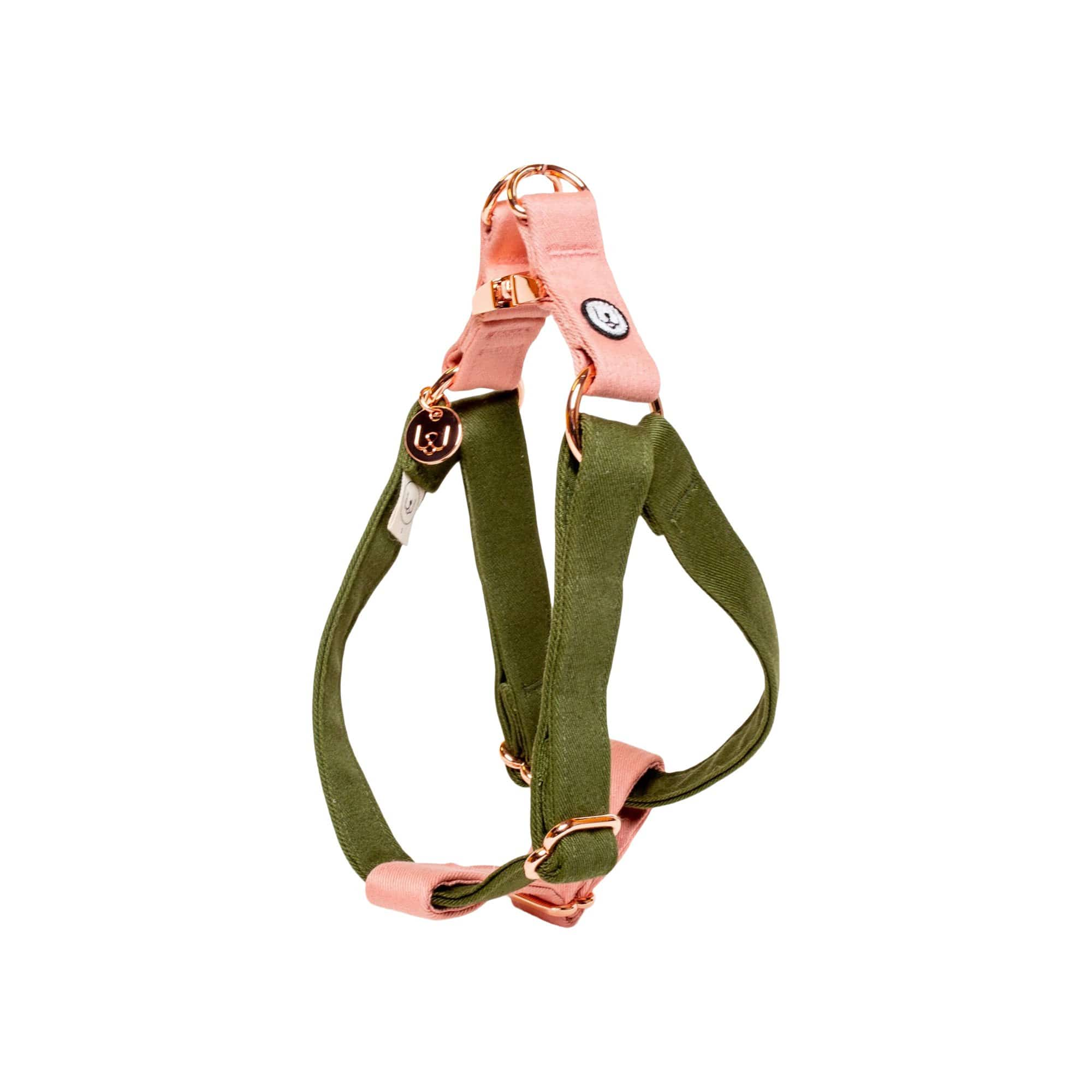 Eat Play Wag Collars + Harnesses Olive-Blossom Step-In Harness