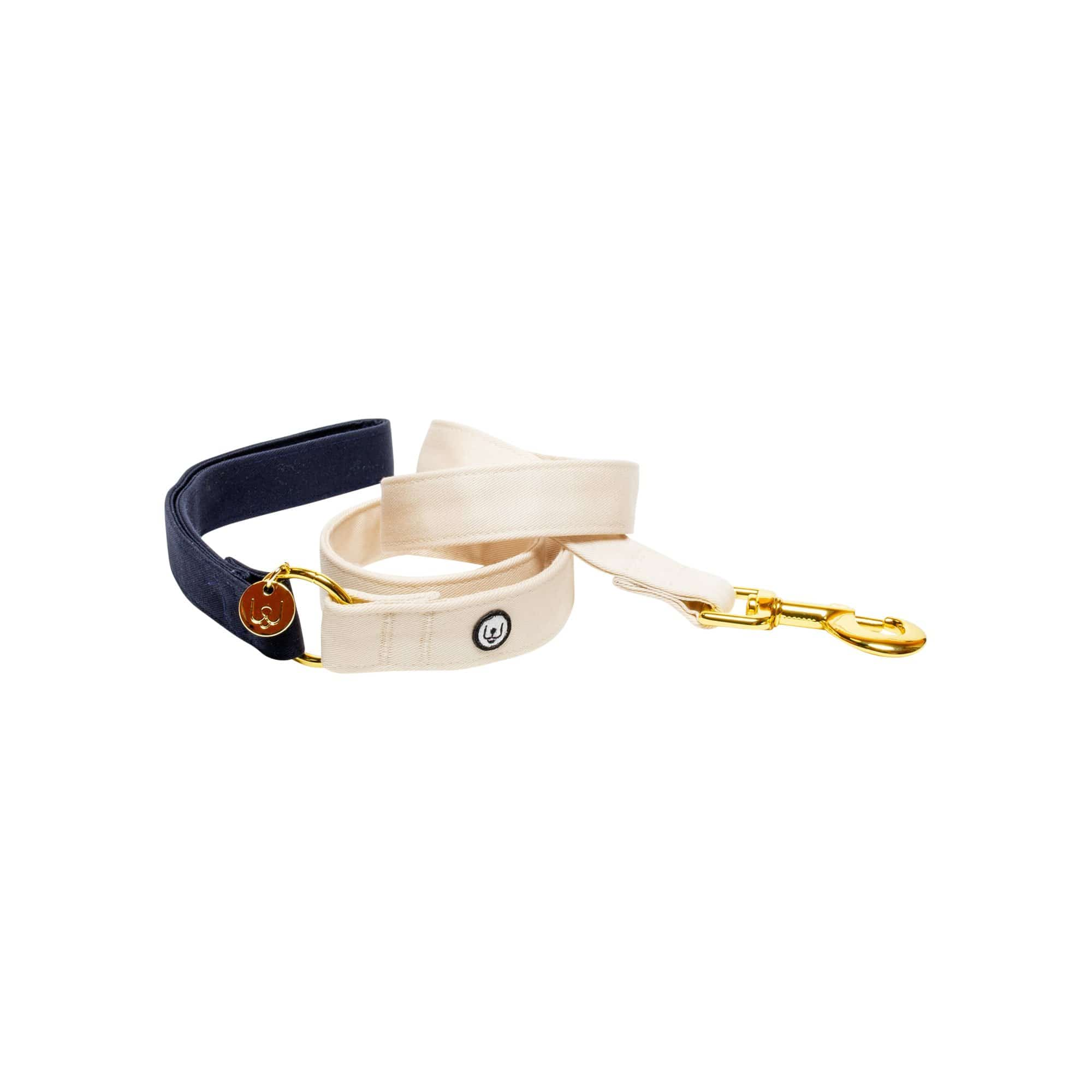 Eat Play Wag Leashes + Leads Navy-Ivory Leash