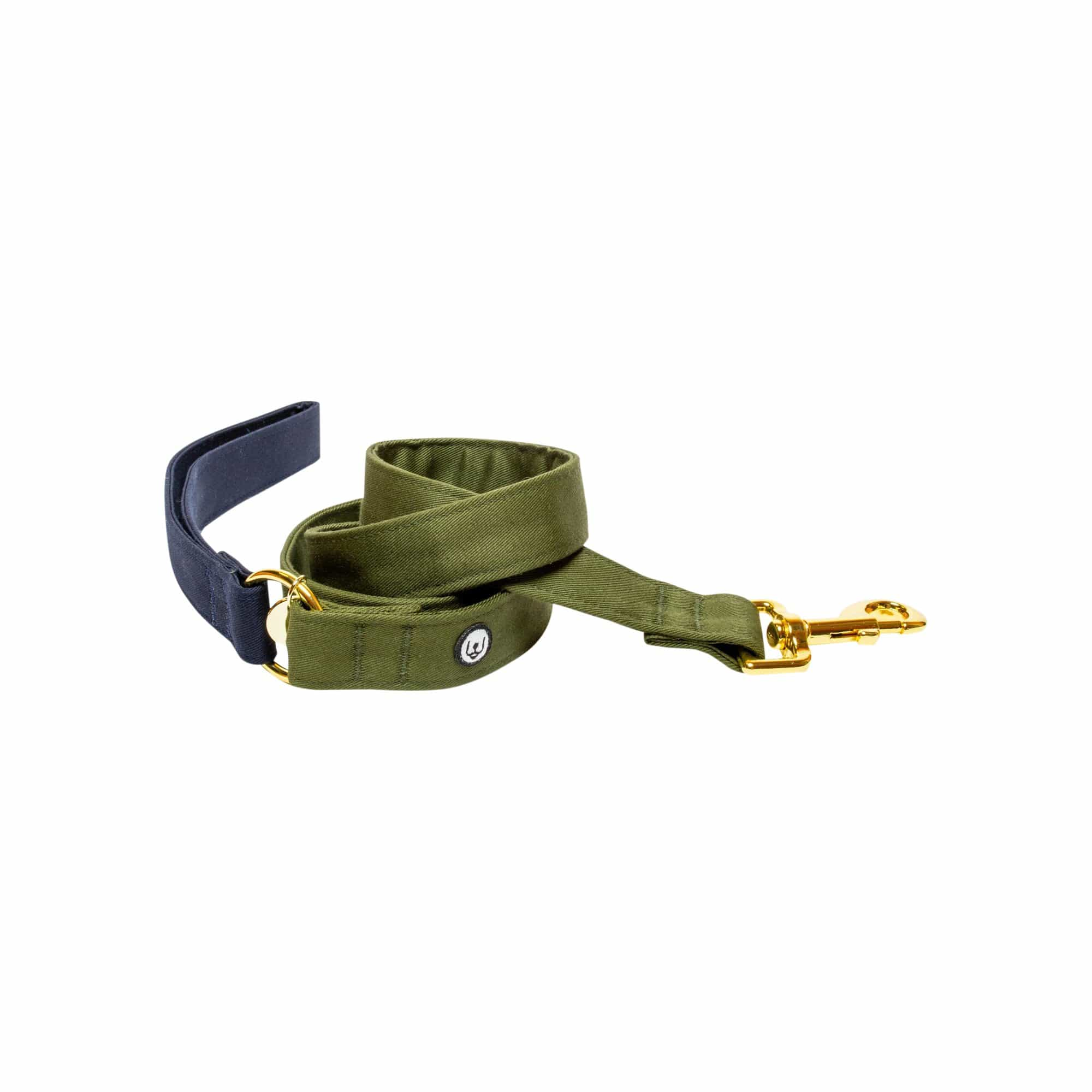 Eat Play Wag Leashes + Leads Navy-Olive Leash