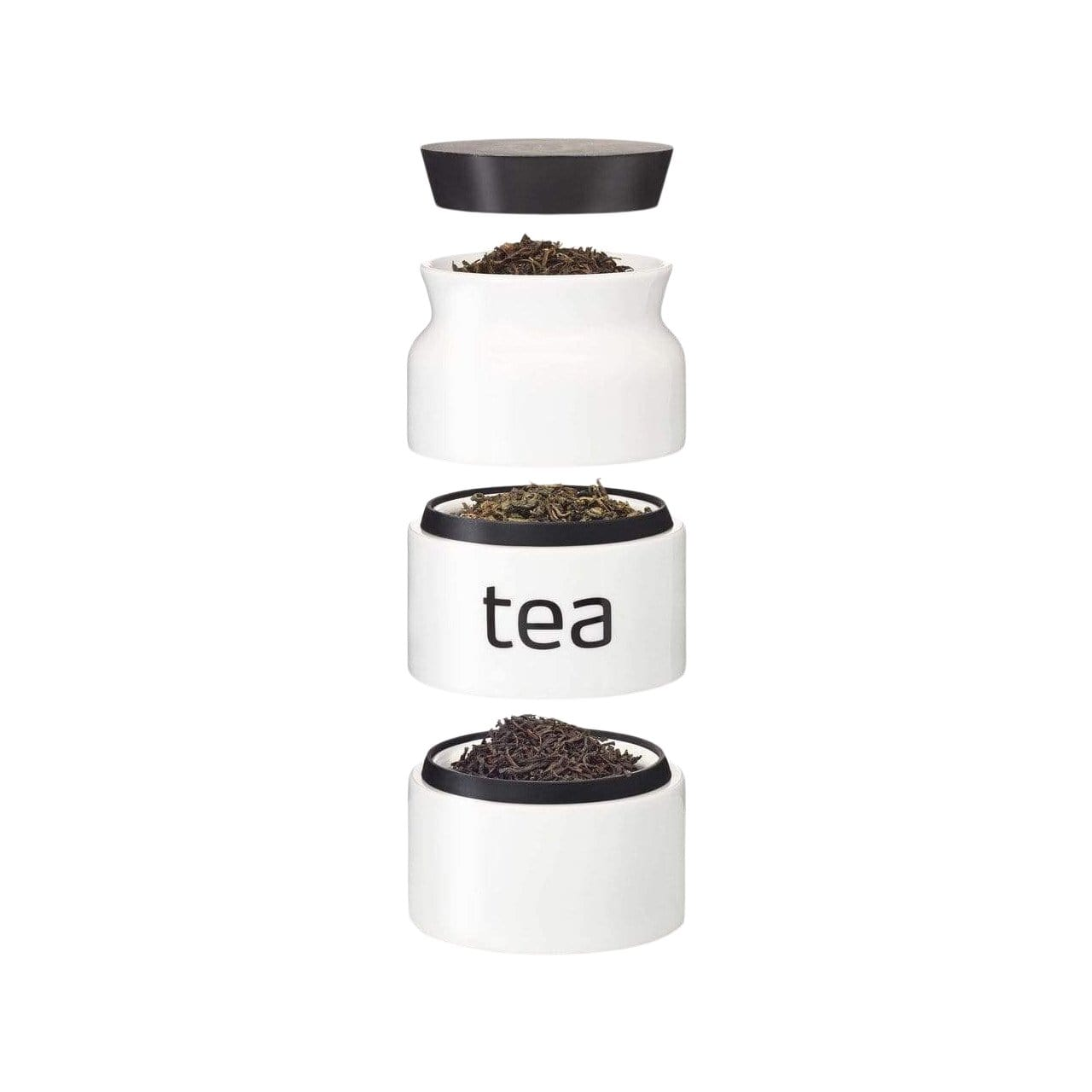 Tea Storage Tower with Silicone Lid