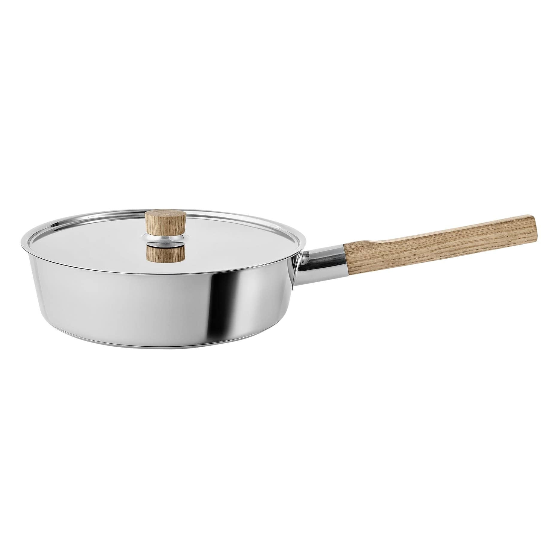 Nordic Kitchen Stainless Steel Sauté Pan with Lid