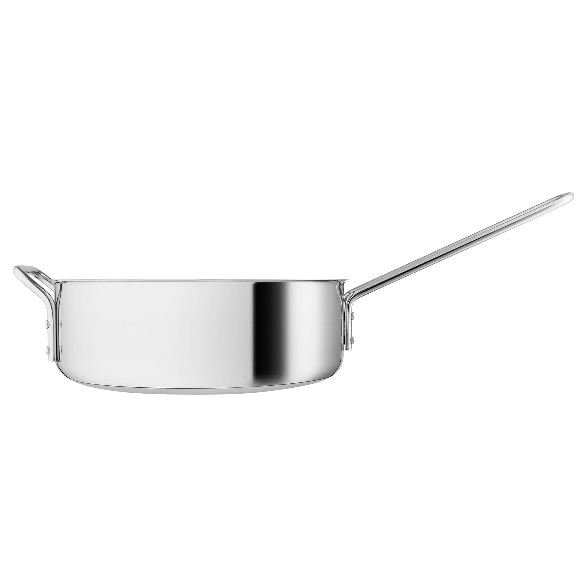 Stainless Steel Saute Pan with Ceramic Coating, 24cm