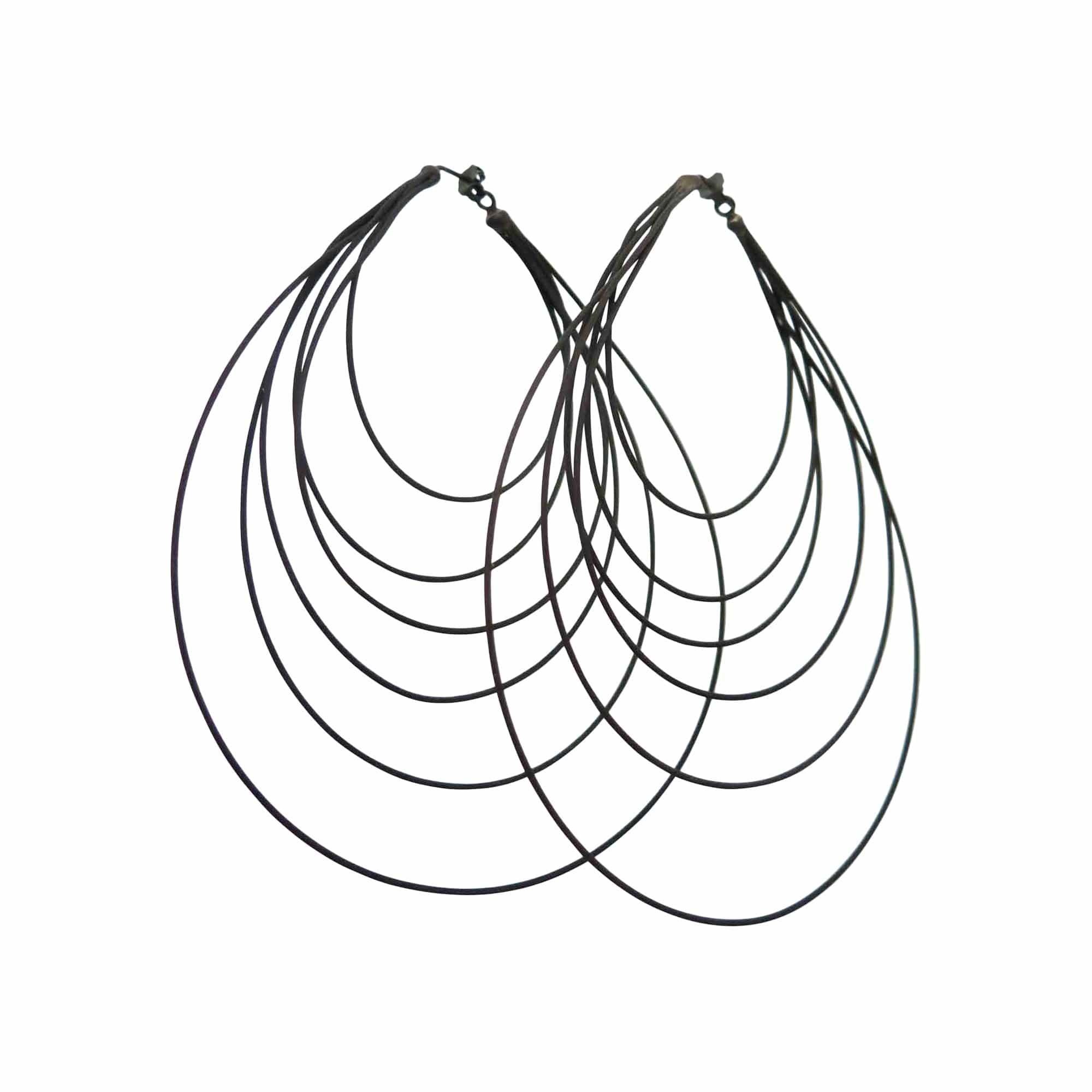 Ex Ovo Earrings Large / Black Oxidized Multi Multi Cable Eearrings