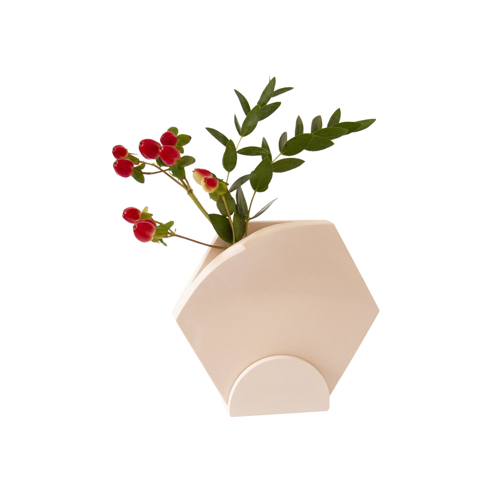 Extra&ordinary Design Planters, Pots + Vases Hexagonal Table Top Vase