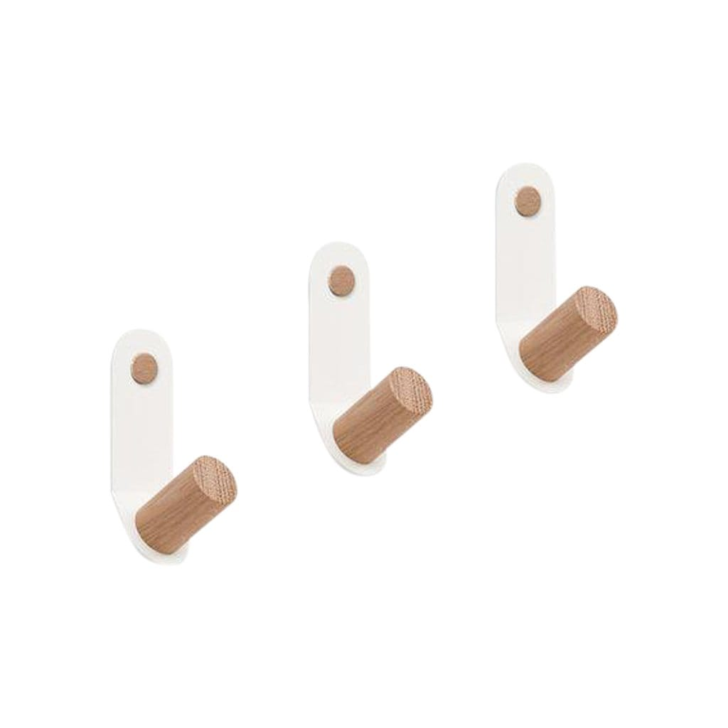 Plane Set of 3 Single Wall Hooks