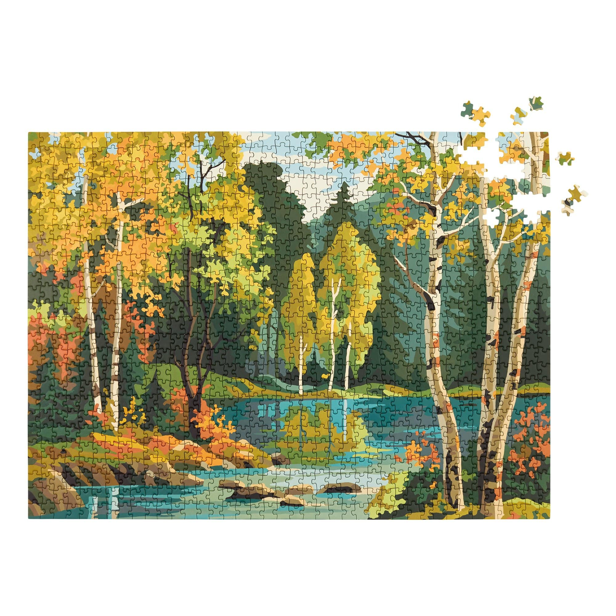 Forest Paint by Numbers Puzzle